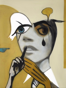 Girl With Tear (Yellow Painting)